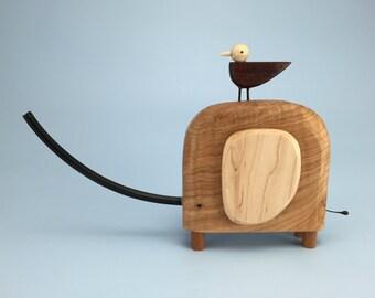 elephant sculpture | elephant figurine | wood elephant | custom elephant | modern elephant | maple cocobolo wood elephant