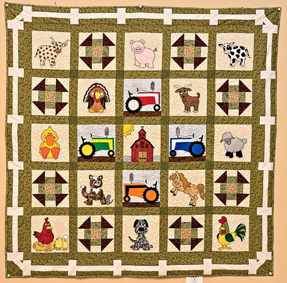 Mustang Horse Or Pony Downloadable Pdf Applique Quilt Pattern