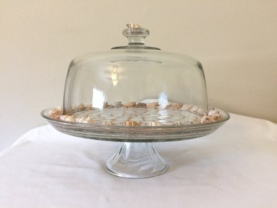 Like this item? & SeaShell Cake Plate with Dome Glass Wedding Cake Stand Beach