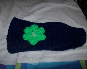 Hand Crocheted Headbands W/ Flowers For The Gals