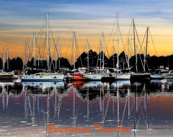 Boats, Bluffer's Park, Toronto, Canada, print