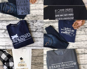 Gilmore Girls Shirt Bundle | Mix and Match | Pick any three | Cute and Cozy Shirts |  Gilmore Girls TV Show | FREE SHIPPING