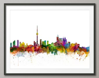 Toronto Skyline, Toronto Canada Cityscape Art Print (1298)