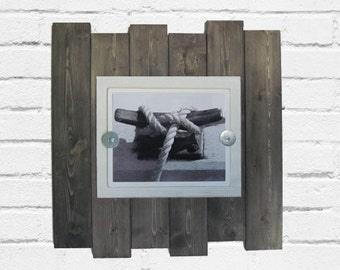 Plank Frame for 8x10 Driftwood Finish Beach Industrial