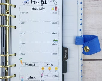 PERSONAL SIZE Planner Insert - Get Fit