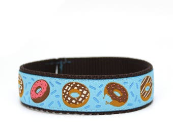 """1"""" Donut Eat this Dog Collar buckle OR martingale dog collar"""