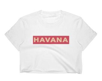 Camila Cabello Havana Track Handmade Cropped Tee - Women's Crop Top