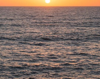 San Diego California sun over the pacific ocean ,   At sunset