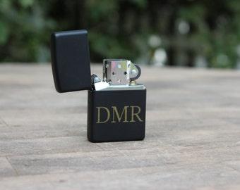 Reserved - set of 13 Personalized Laser Engraved Black Matte Zippo Lighter- groomsmen gift- valentines gift