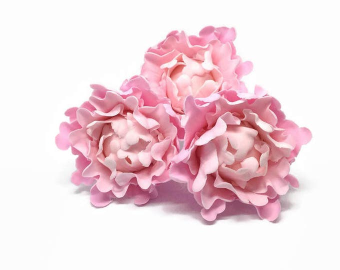Featured listing image: Ombre Pink Peony Bud Sugar Flower set of 3