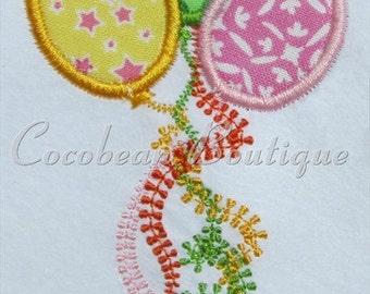 balloons embroidery applique
