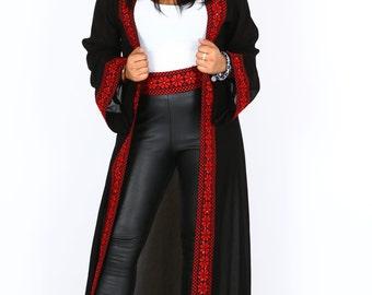 Black Long Sheer Kimono
