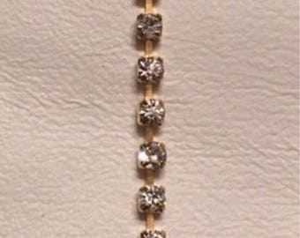 Tennis rhinestone bracelet gold