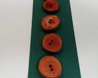 Assortment of vintage wood and coconut shell buttons, vintage buttons, wooden buttons, rustic buttons