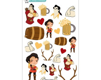 Gaston Stickers - Disney Planner Stickers