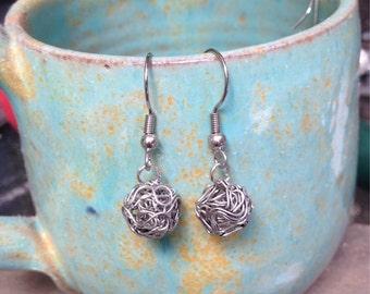 Wire Bead Earrings!
