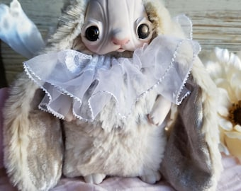 Fancy Almond, bunny doll, bunny plush, ooak doll, art doll