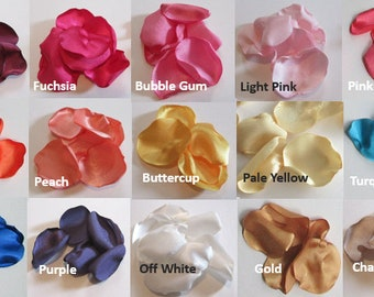 Custom Flower Petals, blush pink, wine rose petals, ivory table decor, pink coral flower girl petals, gold wedding decor,  PICK YOUR COLORS