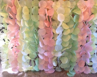 Blush And Light Green Garland Backdrop