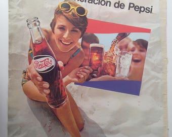 Pepsi Cola Vintage Ad (1968)