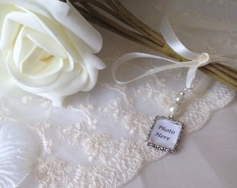 Picture Charms, Memory Frame, Photo Charm, Wedding Bouquet Frame, Wedding Bouquet Photo