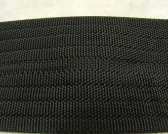 6 cm Strip black cotton webbing
