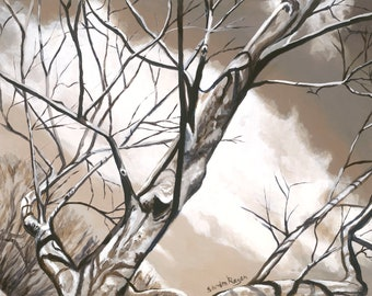 Winter Tree Three, original art print