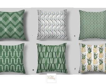 Green THROW Pillows, Mix or Match Throw Pillow Covers Green , Decorative Throw Pillow Covers, Many  Sizes  18x18 16 20 Euro Shams