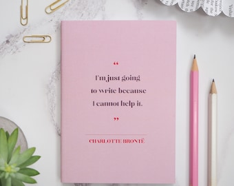 Charlotte Brontë Notebook - Women Writers Pocket Notebooks - Gift for readers, writers, book lover - Stationery - Journal - Notepad