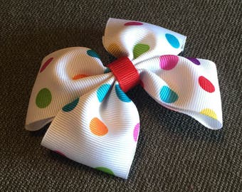 Colorful Dots Hair Bow