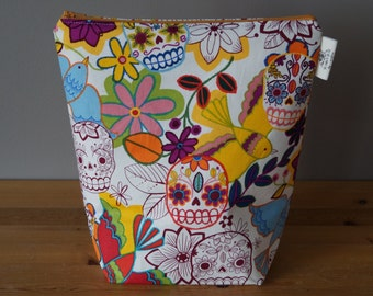 Small Project Bag - Sugar Skull