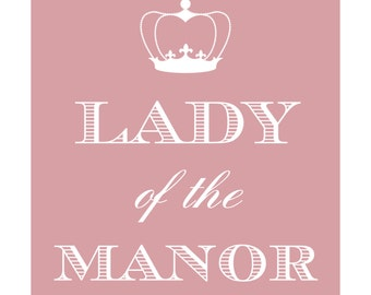 Downton Abbey inspired - 5x6 Lady of the Manor (Digital) - Pink