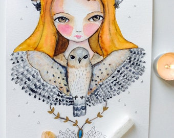What is your Spirit Animal/ totem?  watercolor spirit animal,  whimsical art, mixed media art, guidance, animal totem, spiritual gift