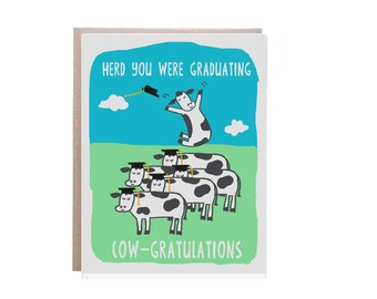 Graduation Card, Funny, High School Graduation, College Graduation, Grad School, Pun Card