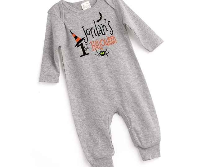 Personalized Baby Boy Halloween Outfit, Baby Boy First Halloween Onesie, Custom Halloween Onesie, Newborn Halloween Bodysuit Boys Tesababe