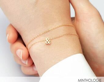 Ampersand Bracelet B3 • Tiny & Bracelet, Gold, Silver, Rose Gold, Bridesmaid Gift, Friendship Bracelet, Gift For Her
