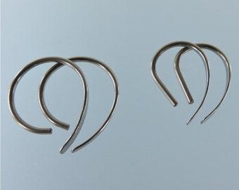 16 gauge niobium earrings: Apostrophe set of 2 pairs