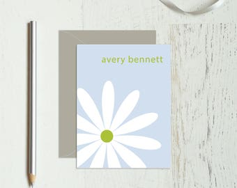 Personalized Stationery - Personalized Stationary - Personalized Notes - Personalized Note Cards - Notecard - thank you / just one daisy