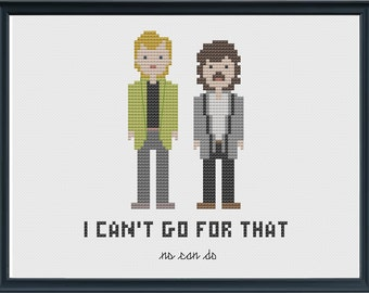 INSTANT DOWNLOAD Hall and Oates - I Can't Go For That Cross Stitch Pattern PDF