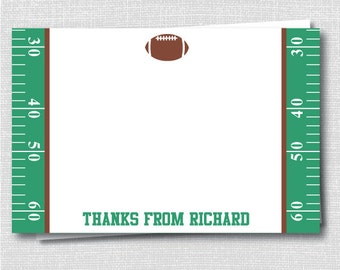 Football Custom Notecard for Kids - Football Party Thank You - Digital Design or Printed Notecards - FREE SHIPPING