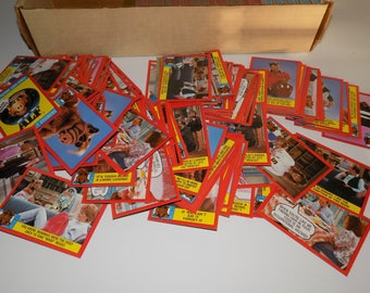 Collection of ALF Trading Cards and Stickers Topps
