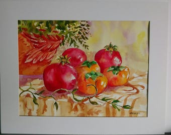 Persimmons and Pomegranets