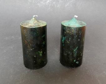 Pillar Candle, Black candle, Handmade Candle,