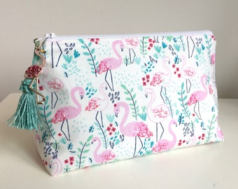 Flamingo Large Makeup Bag Jewelry Bag Cosmetic Organizer
