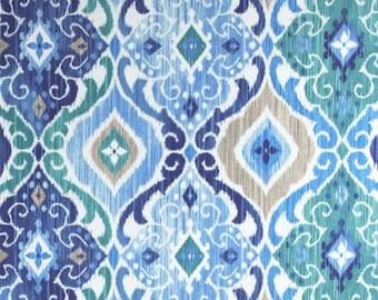 Fabric shower curtain Richloom Solarium Fresca cobalt blue