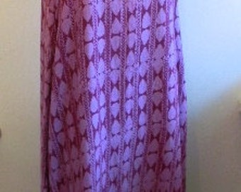 vintage.  Purple IKAT Print Dress  / Hippie Bohemian / Maxi Dress // M to XL