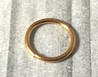 10K Gold Nose Ring, 16 to 22 Gauge, 10K Gold Septum Ring, Gold Nose Hoop, 16g 18g 20g 22g, 10K Gold Cartilage Hoop Ring