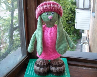 Crochet rabbit/вязаная зайка