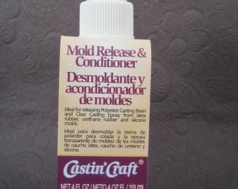 Mold Release 4 oz 118ml Conditioner for Resin Latex Urethane Silicone Castin' Cast