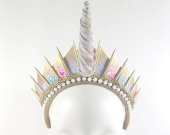 Unicorn Golden Blade Crown - by Loschy Designs